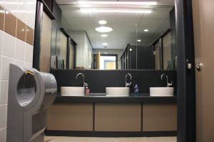 Bathroom at the TCR Hub