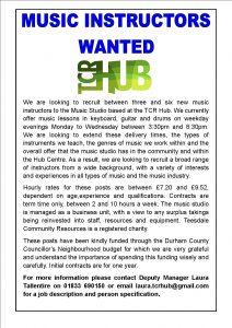 Advert for job vacancies