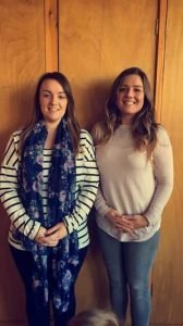Play group leaders Jess Thompson and Rebecca Rainbow
