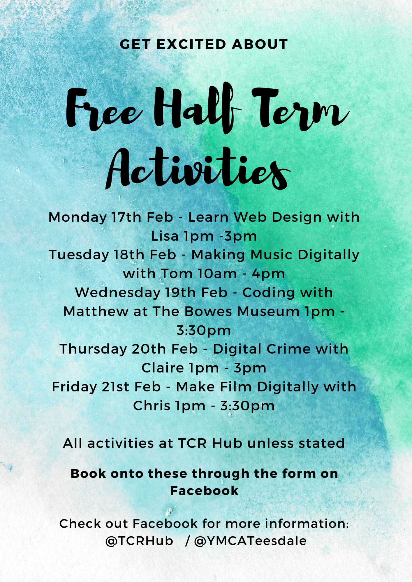 Digital FREE Half Term Events