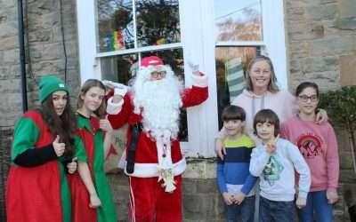 Doorstep Santa visits families in Teesdale
