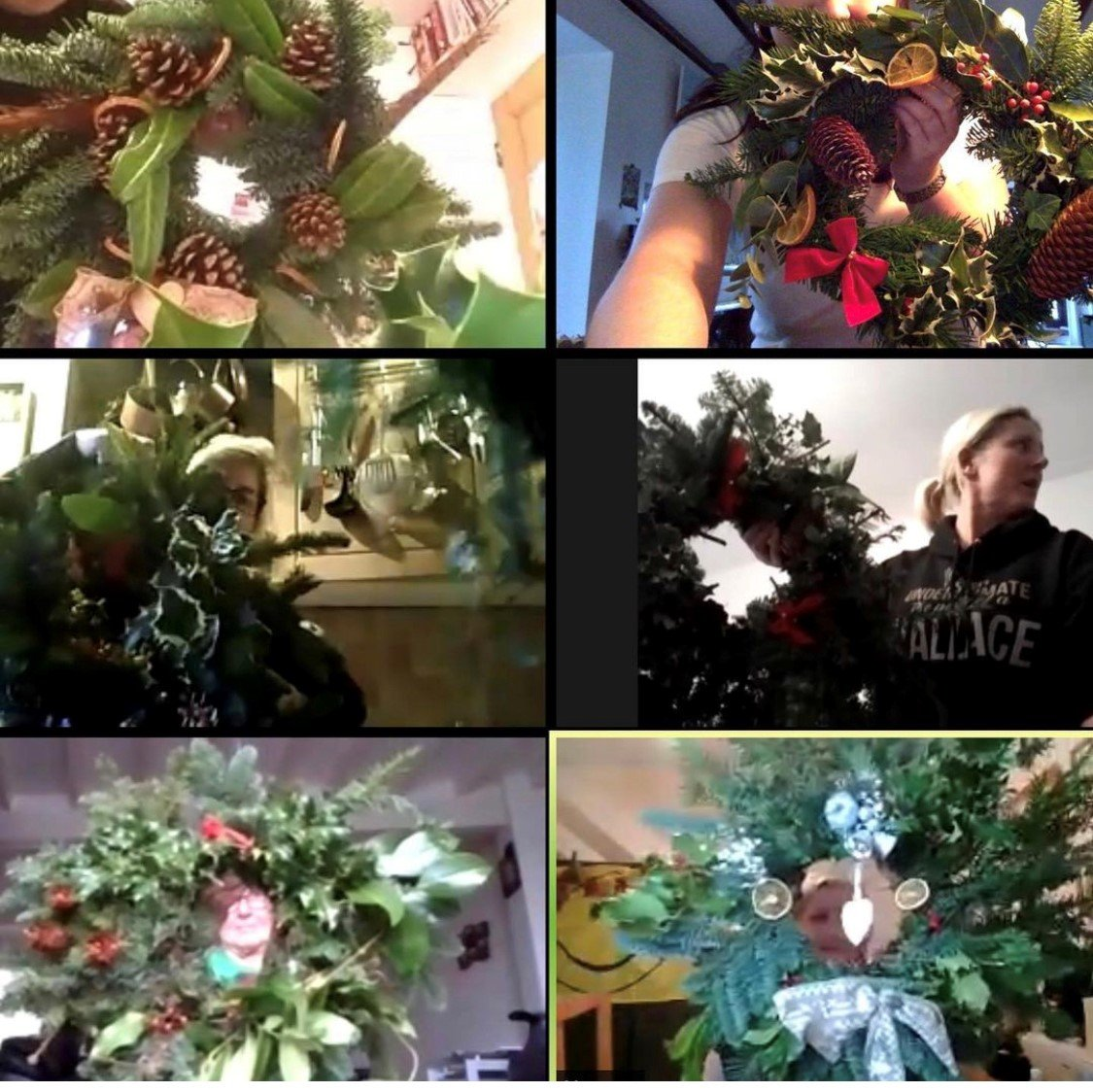 xmas wreath making zoom