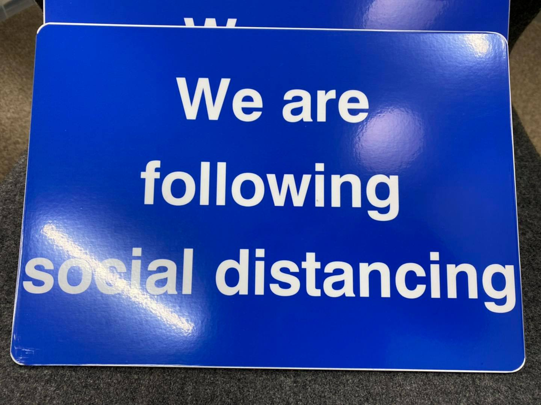 social distancing at the hub