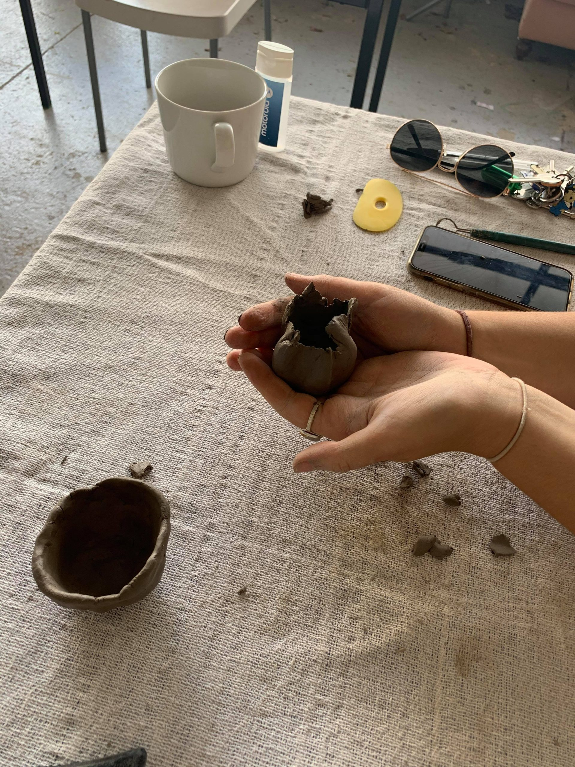 Clay workshop TCR Hub Thursday afternoon Now Project