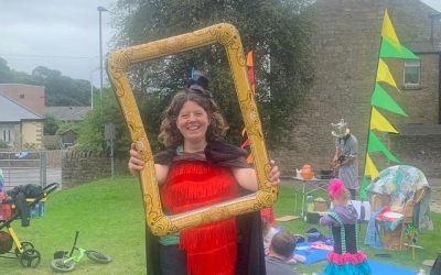 TCR Bus…Back on the road to share fun with families in Teesdale